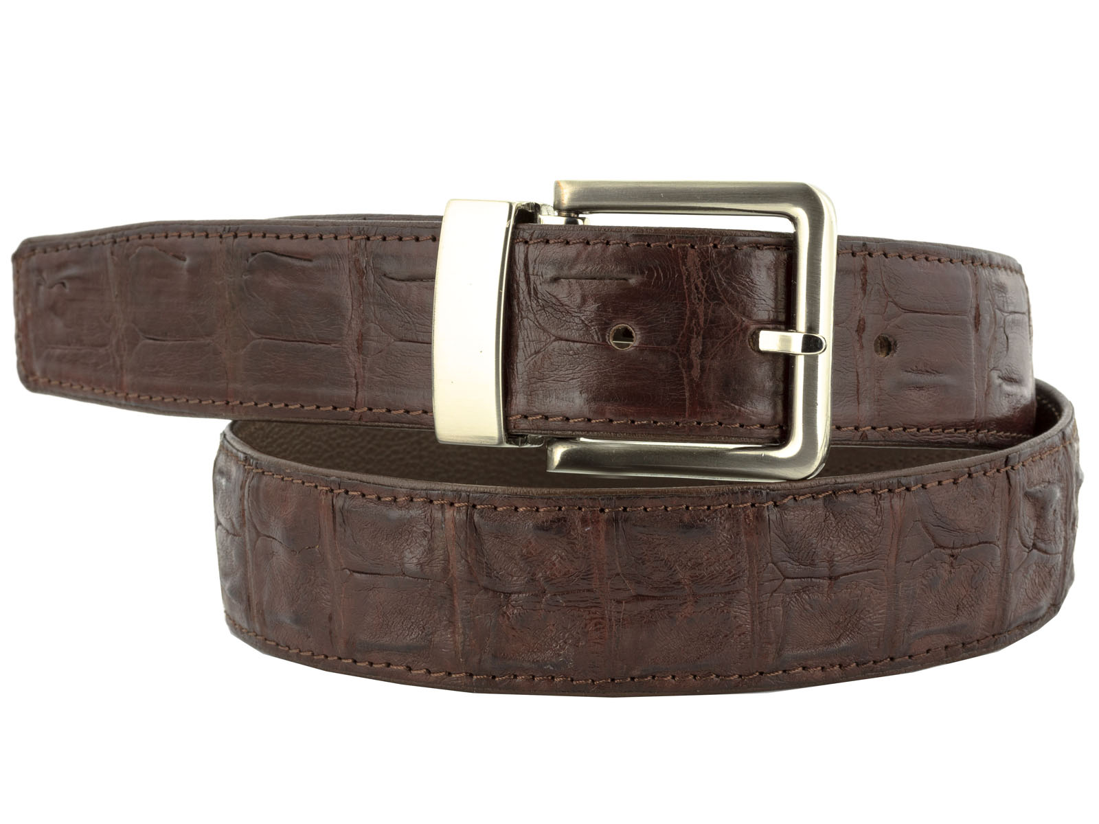 mens brown genuine crocodile alligator western cowboy