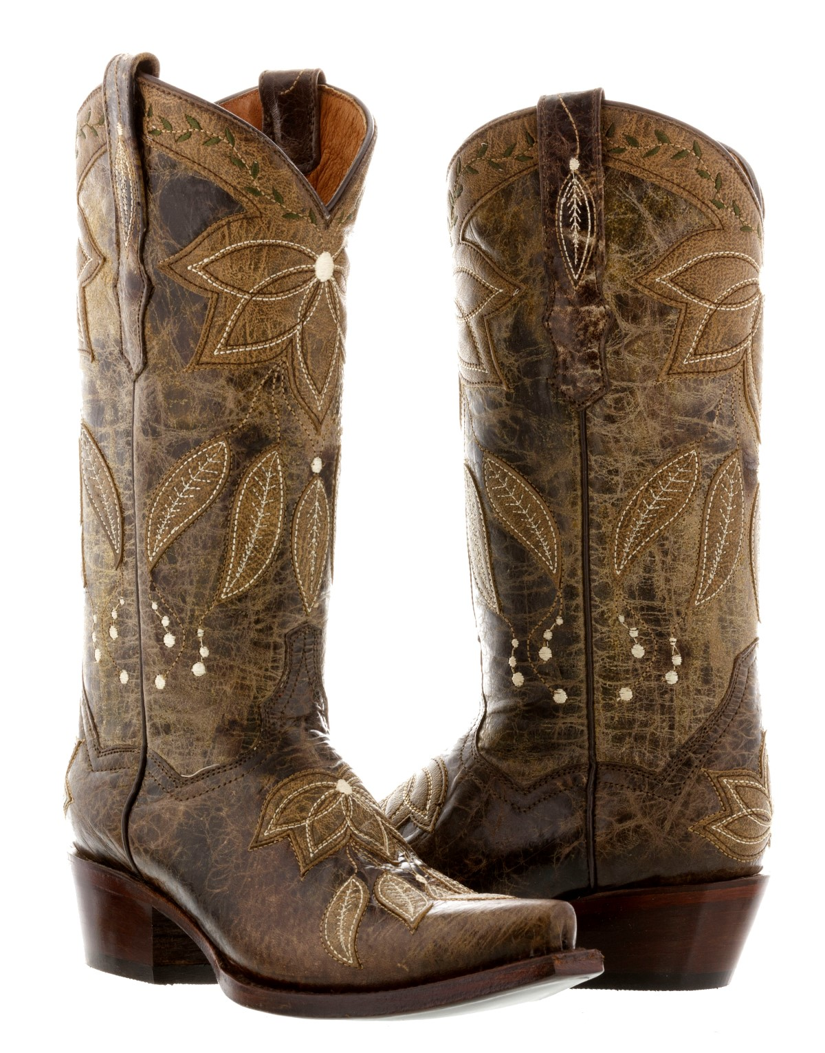 womens brown summer leather cowboy boots western