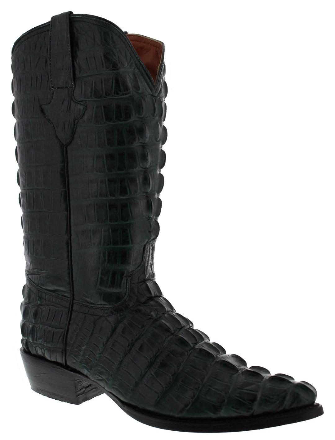 67599dba841 Mens Green Full Alligator Print Leather Cowboy Boots Western Wear ...