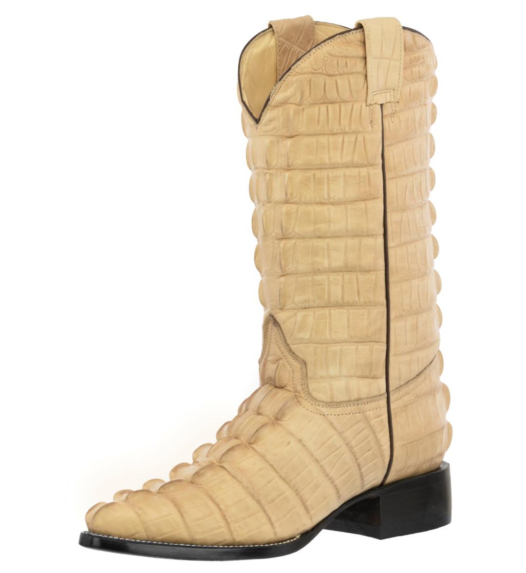 8cb169117a7 Mens Sand Full Alligator Print Leather Cowboy Boots Western Wear ...