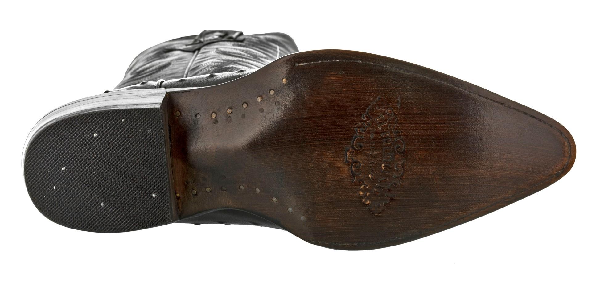 Hombre Negro De Piel De Cocodrilo Avestruz Patrón occidental desgaste occidental Patrón botas de vaquero J del dedo del pie a4c9c8