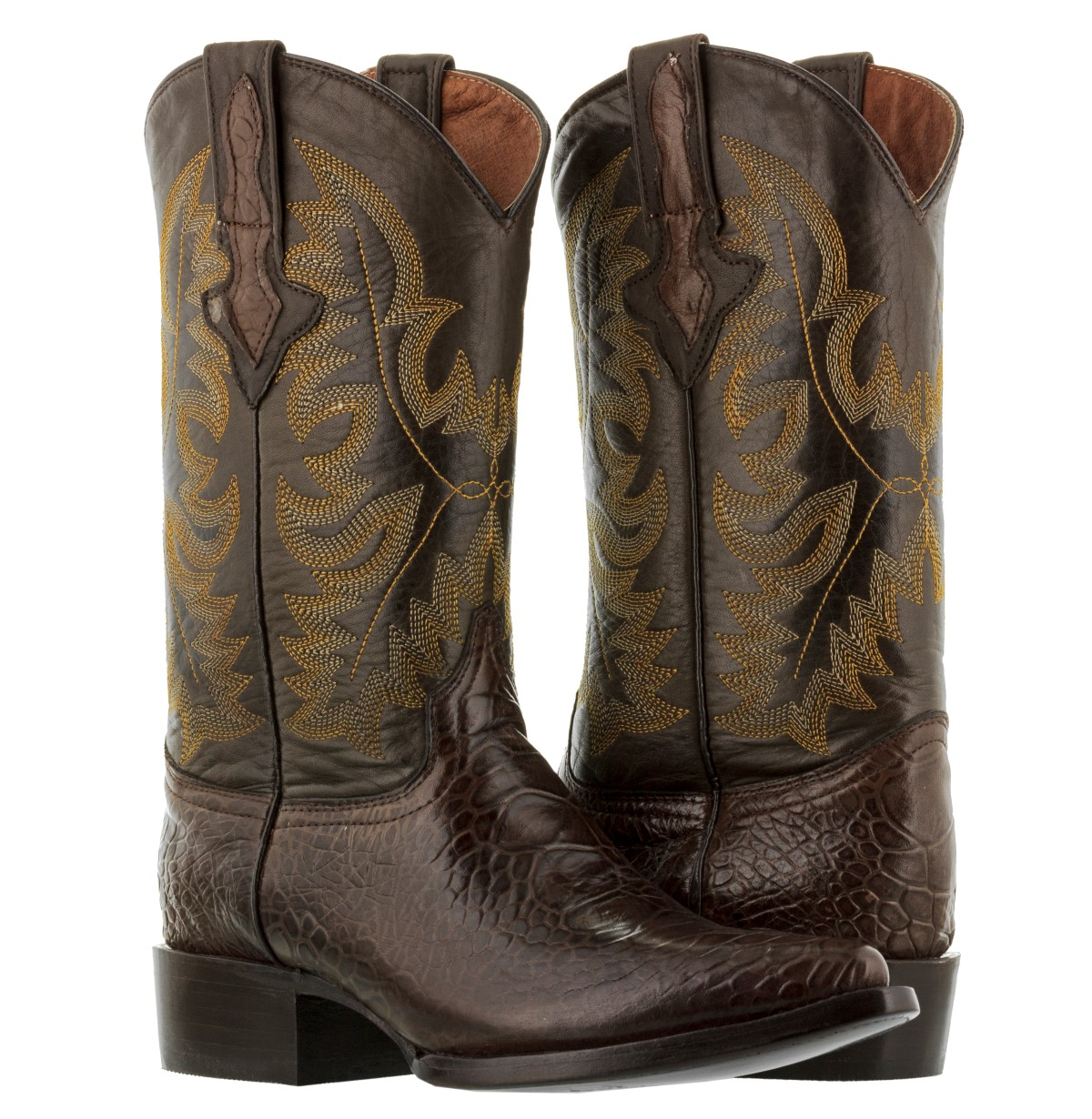 mens beige sand western ostrich pattern cowboy boots alligator ranch j toe rodeo
