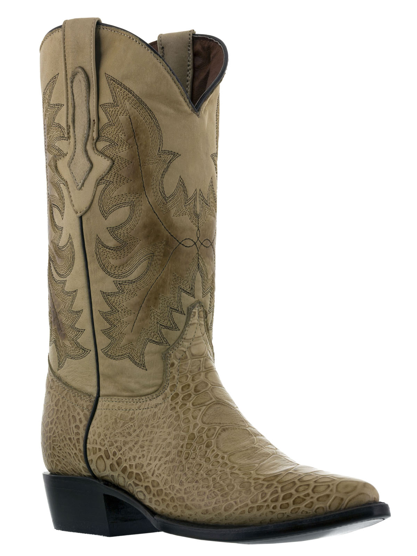 Details about Mens Exotic Crocodile Sea Turtle Design Beige Sand Western Leather Cowboy Boots