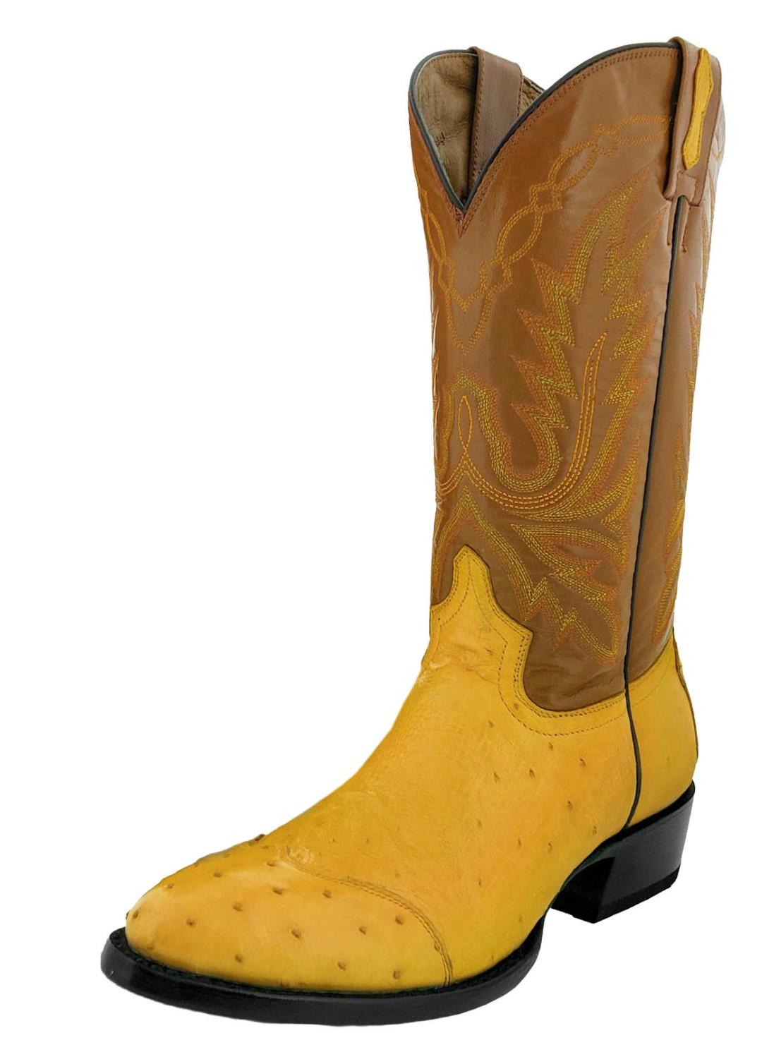 cf6054c08e5 Mens Buttercup Genuine Ostrich Crocodile Leather Cowboy Boots Round ...