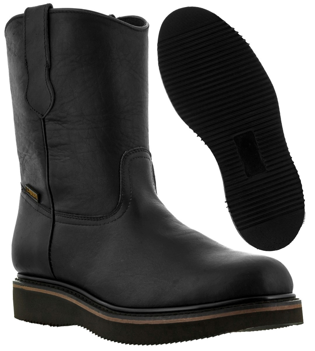 Men S Black Leather Oil Water Slip Resistant Durable Work Boots All