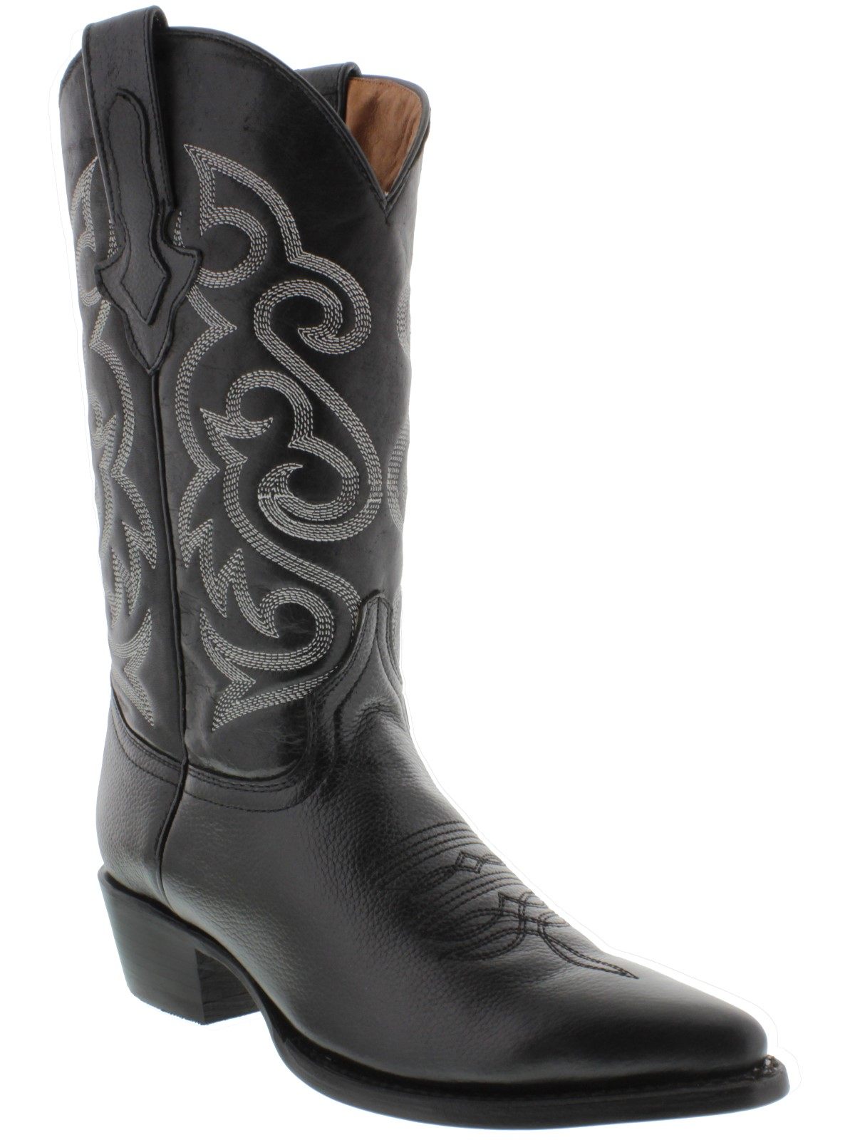release date: select for official better price Details about mens original black all real genuine leather western rodeo  cowboy boots new