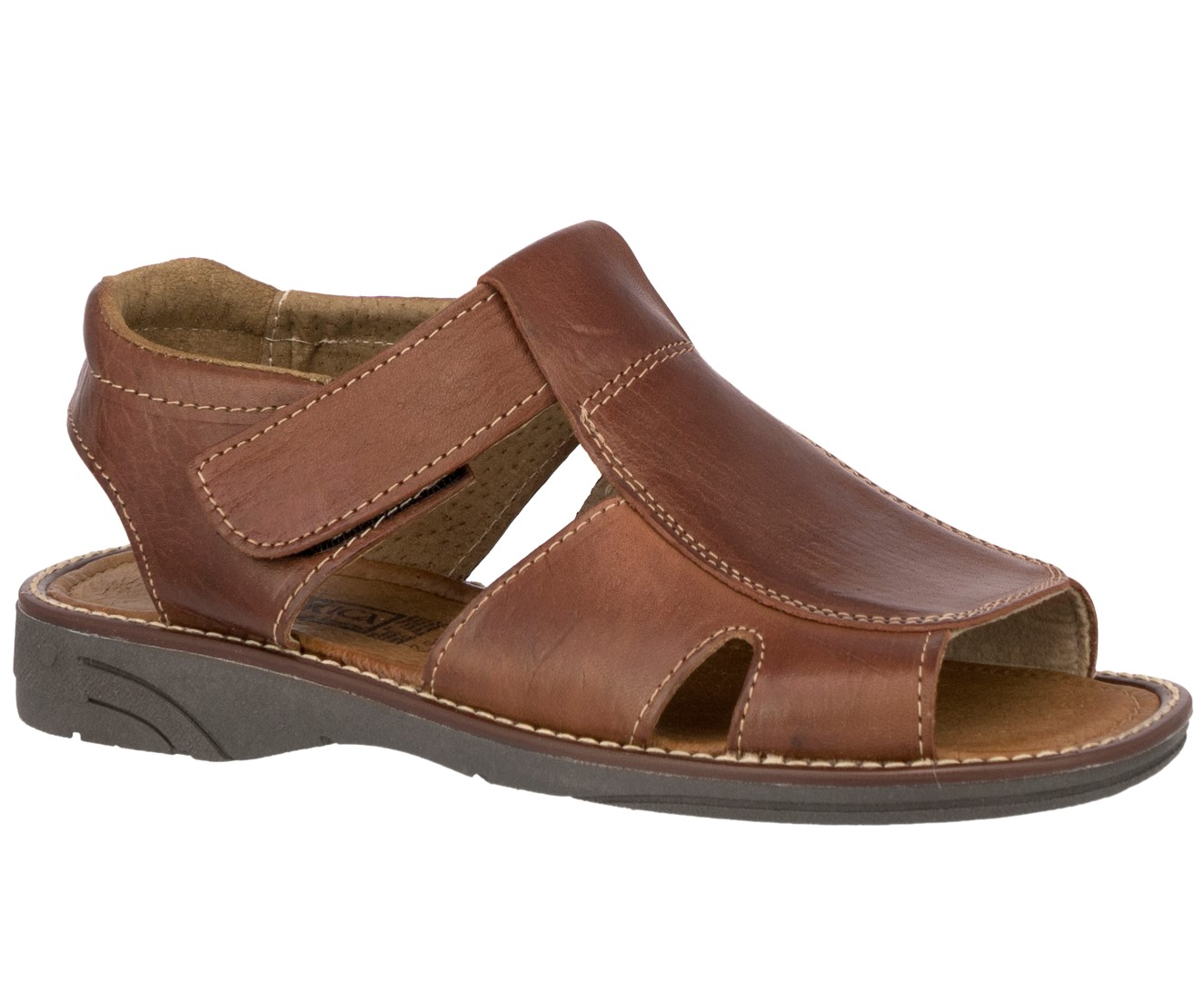 Mens Cognac Real Leather Fisherman Sandals Authentic Mexican Huaraches 1