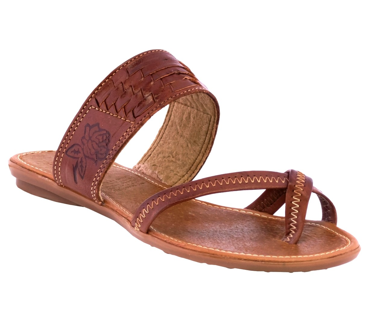 Straps Women Handmade Authentic Mexican Genuine Soft Leather Sandal Huaraches